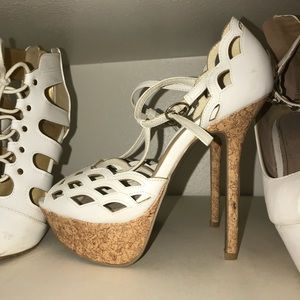 White Charlotte Russe Heels size 7